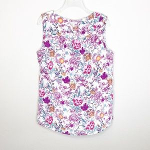 Talbots Sleeveless Blouse Floral